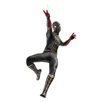 Hot Toys Spider-Man: No Way Home Movie Masterpiece Action Figure 1/6 Spider-Man (Black & Gold Suit) 30 cm
