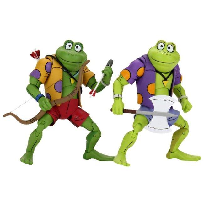 NECA  Teenage Mutant Ninja Turtles Action Figure 2-Pack Genghis & Rasputin Frog 18 cm
