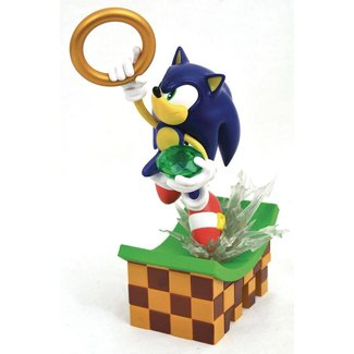 Diamond Select Toys Sonic Gallery PVC Diorama Sonic 23 cm