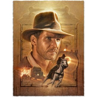 Sideshow Collectibles Indiana Jones Art Print Pursuit of the Ark 46 x 58 cm - unframed