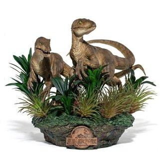 Iron Studios Jurassic Park Deluxe Art Scale Statue 1/10 Just The Two Raptors 20 cm