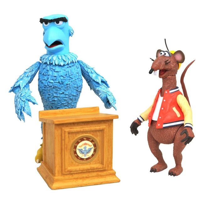 Diamond Select Toys The Muppets Select Action Figure 2-Pack Sam the Eagle & Rizzo the Rat 13 cm