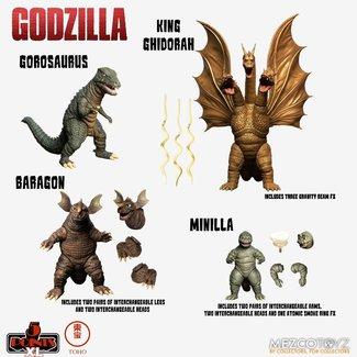 Mezco Toys Godzilla: Destroy All Monsters 5 Points XL Action Figures Deluxe Box Set Round 2 11 cm