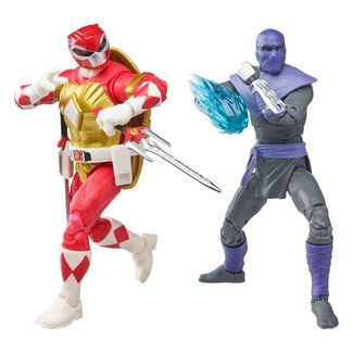Hasbro Power Rangers x TMNT Lightning Collection Action Figures 2022 Foot Soldier Tommy & Morphed Raphael