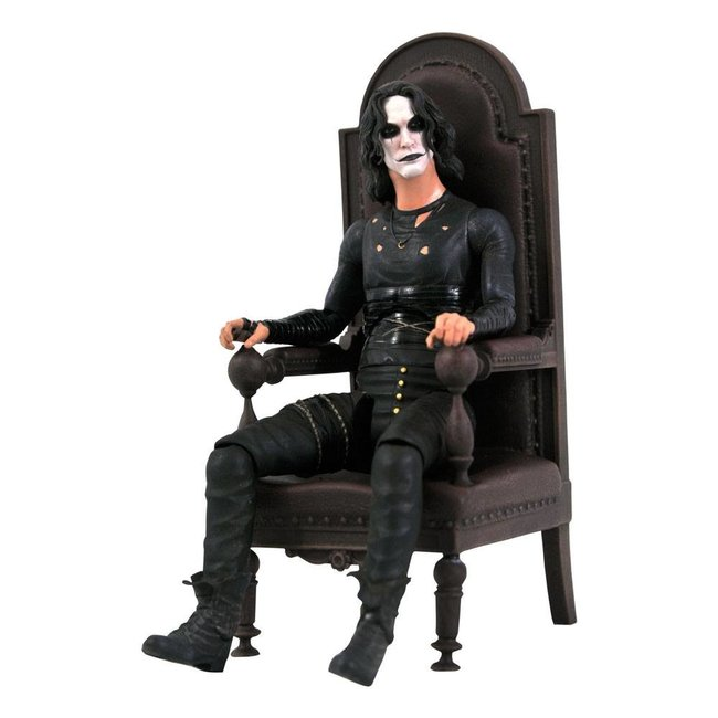 Diamond Select Toys The Crow Deluxe Action Figure Eric Draven in Chair SDCC 2021 Exclusive 18 cm