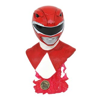 Diamond Select Toys Mighty Morphin Power Rangers Legends in 3D - Red Ranger 1:2 Scale Bust