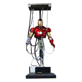 Hot Toys Iron Man Movie Masterpiece Action Figure 1/6 Iron Man Mark III (Construction Version) 39 cm