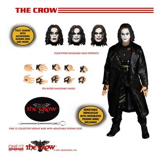 Mezco Toys The Crow Action Figure 1/12 Eric Draven 17 cm