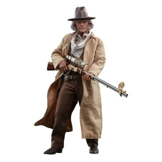 Hot Toys Back To The Future III Movie Masterpiece Action Figure 1/6 Doc Brown 32 cm