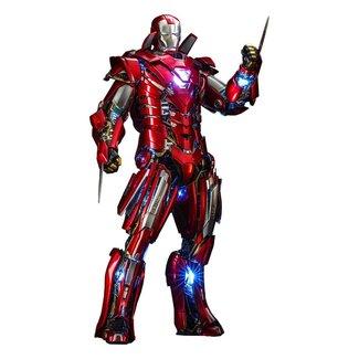 Hot Toys Iron Man 3 Movie Masterpiece Action Figure 1/6 Silver Centurion (Armor Suit Up Version) 32 cm