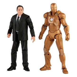Hasbro The Infinity Saga Marvel Legends Action Figure 2-Pack 2021 Happy Hogan & Iron Man (Iron Man 3) 15 cm