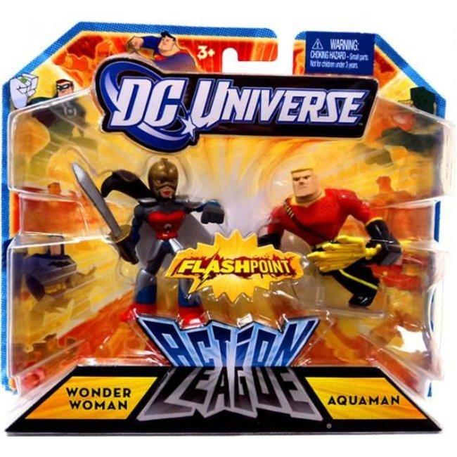 Action League Wonder Woman & Aquaman Mini Figures