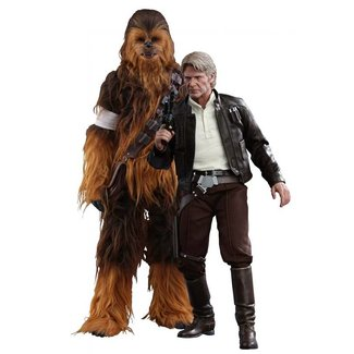 Hot Toys Star Wars Episode VII MMS AF 2-Pack 1/6 Han Solo & Chewbacca