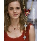 HP - Hermione's 1/1 Red Crystal Necklace Replica