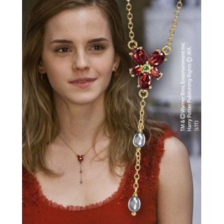 Noble Collection Hermione's 1/1 Red Crystal Necklace Replica
