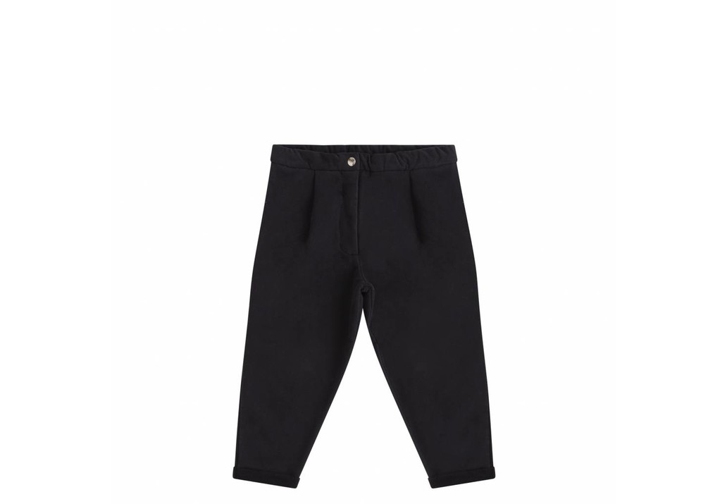 Cropped chino Black