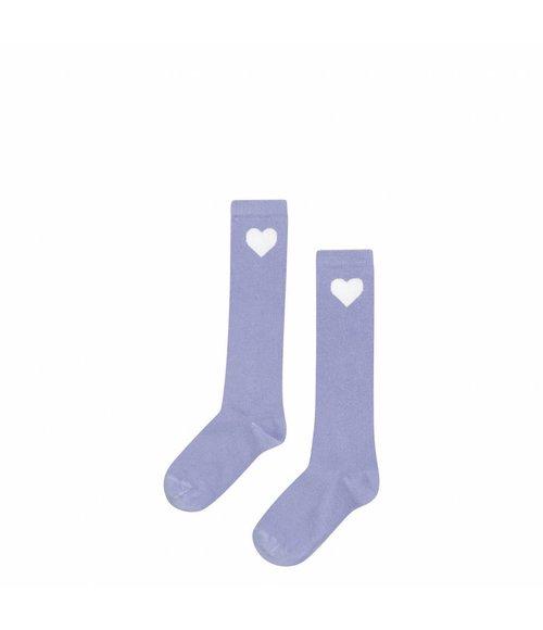 MINGO Knee socks Lilac heart