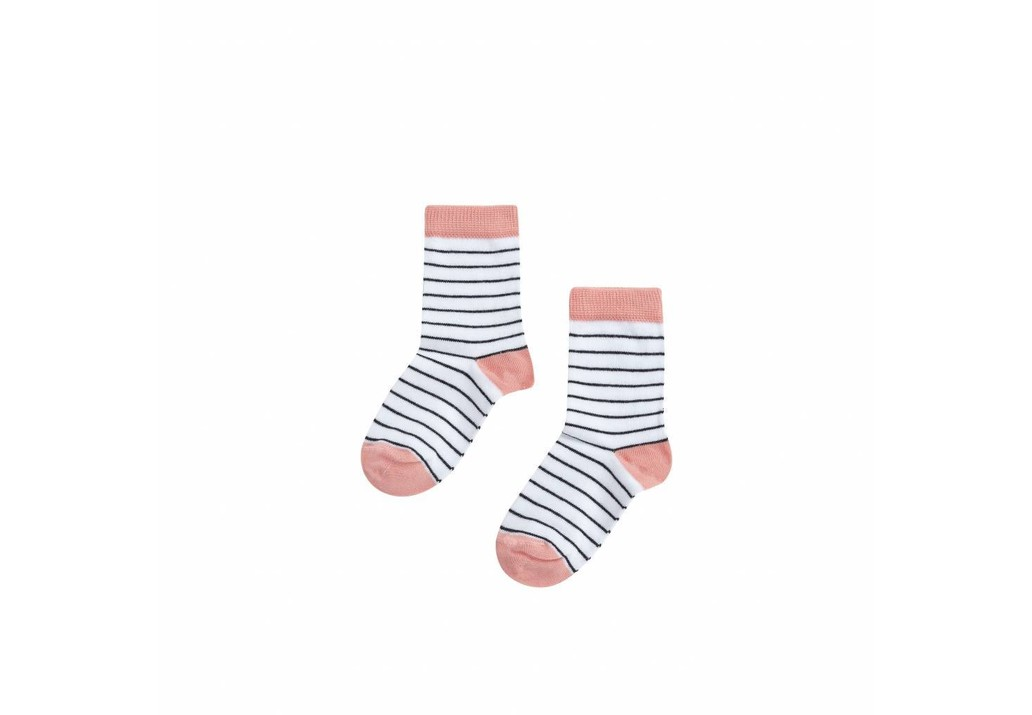 Socks Stripes/peach pink