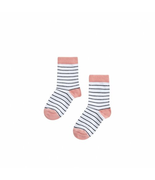 MINGO Socks Stripes/peach pink