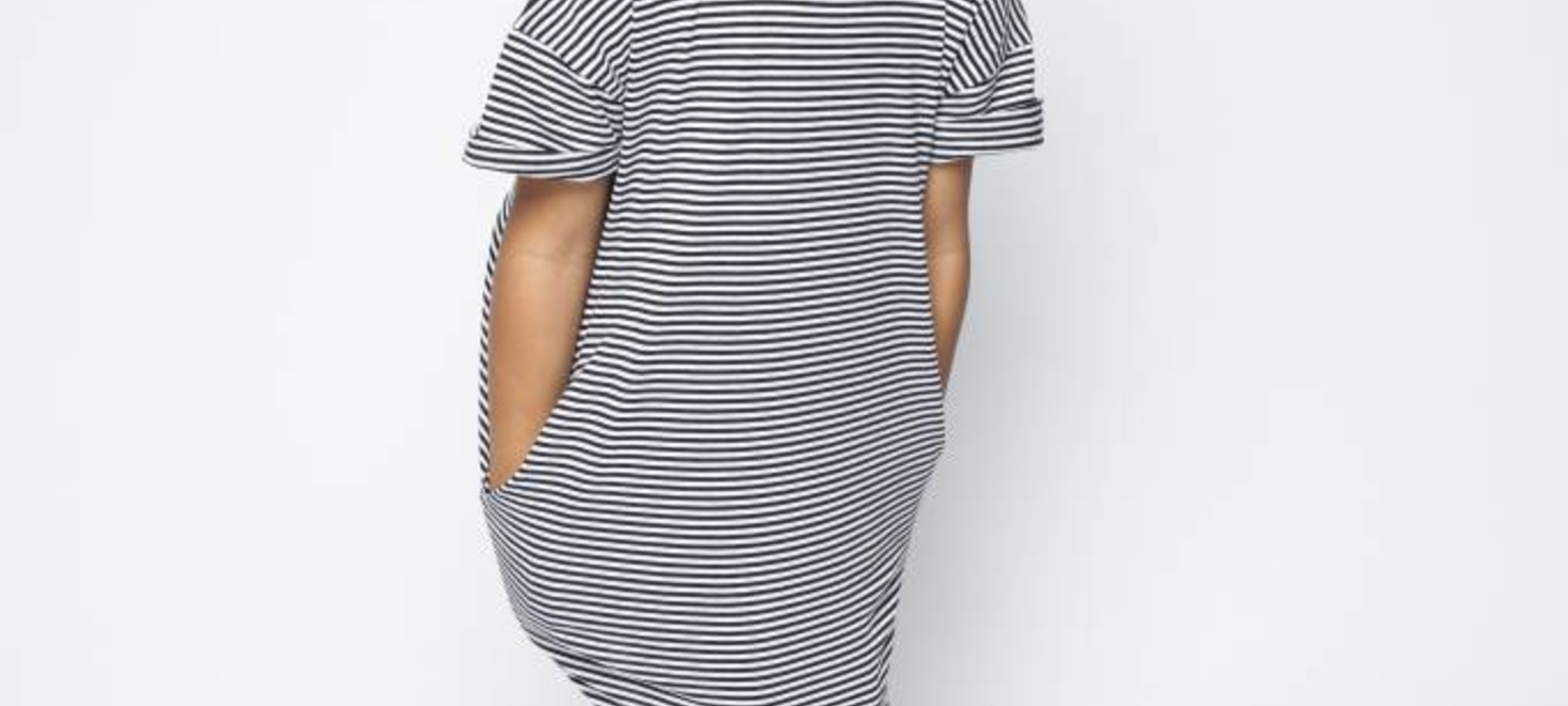 T-Shirt dress B/W stripes