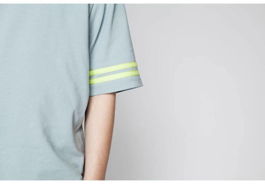 T-shirt Smoke blue/Sun glow
