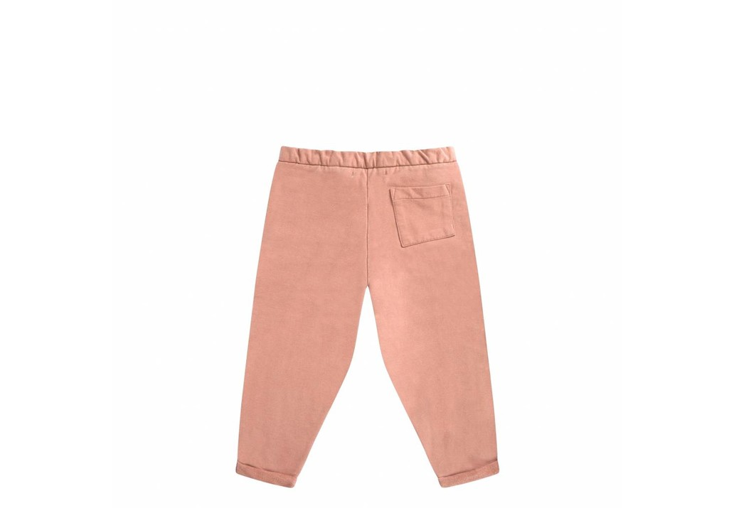 Cropped chino peach pink