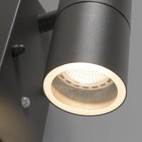 Buitenlamp Sense antraciet LED 2 lichts dag nacht sensor
