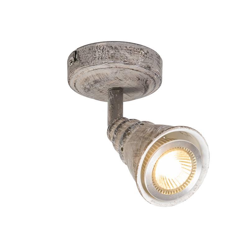 Lamponline Spot Riviera LED antiek wit 1 lichts