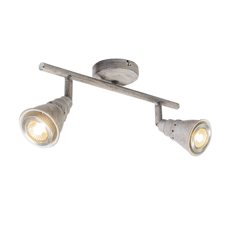 Lamponline Spot Riviera LED antiek wit 2 lichts