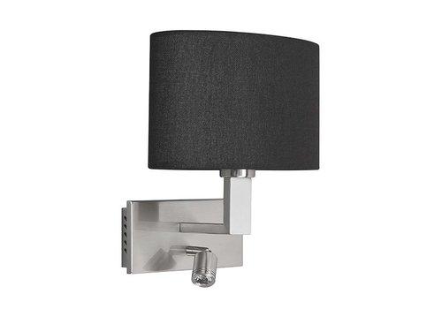 Highlight Wandlamp New oval LED zwart