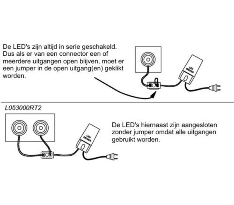 LED 4 weg verlengsnoer