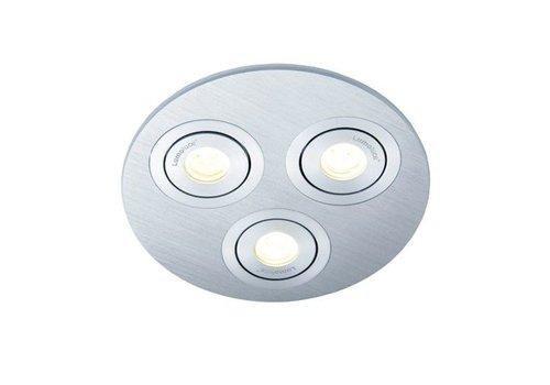 Lamponline Inbouwspot Luzern LED rond 3 lichts