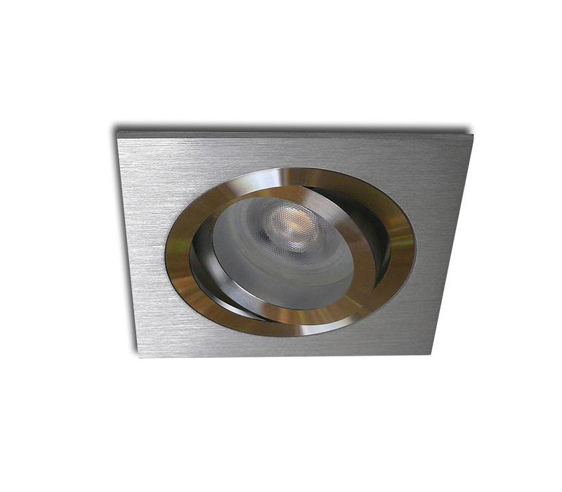 Inbouwspot Brescia vierkant aluminium