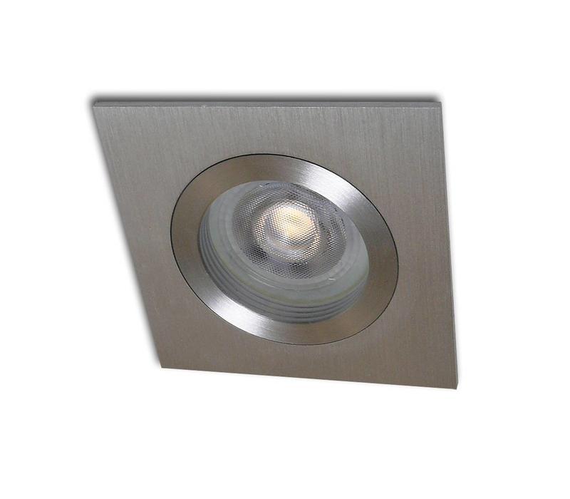 Inbouwspot Basel vierkant aluminium