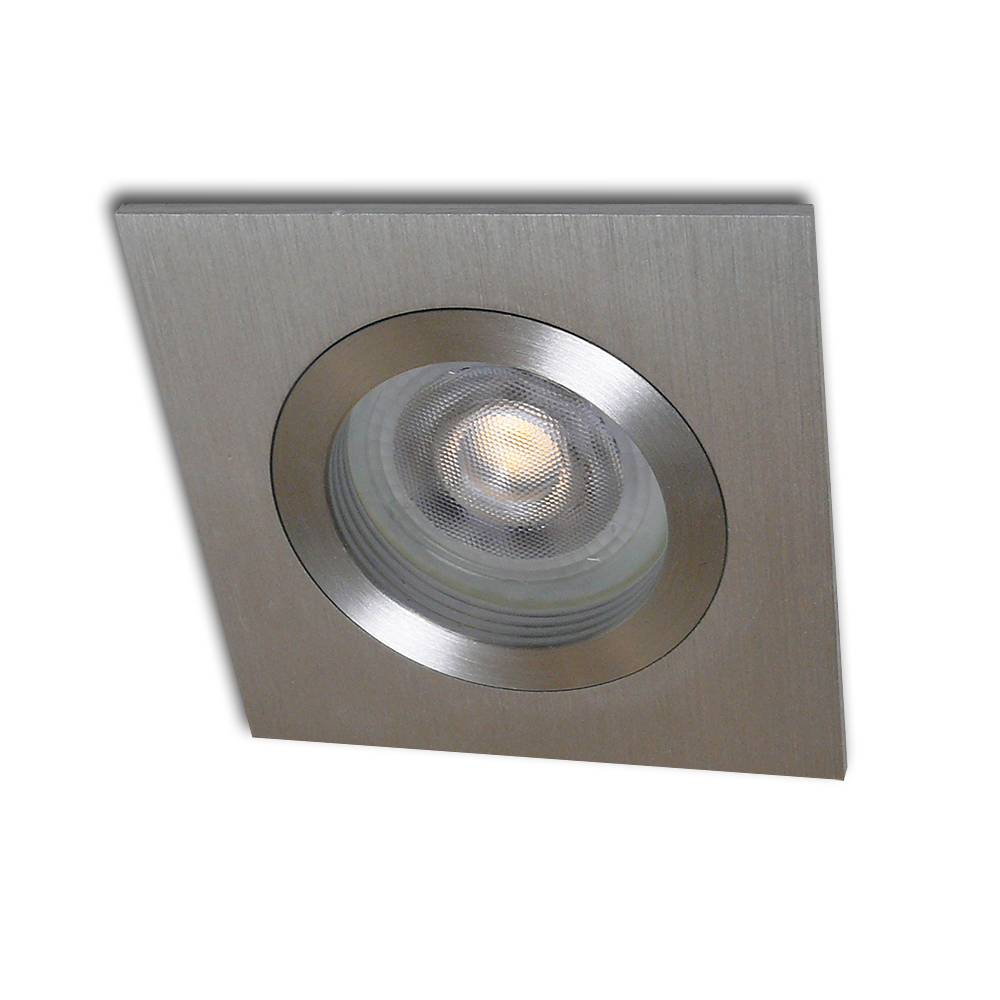 Kelpa Inbouwspot Basel vierkant aluminium