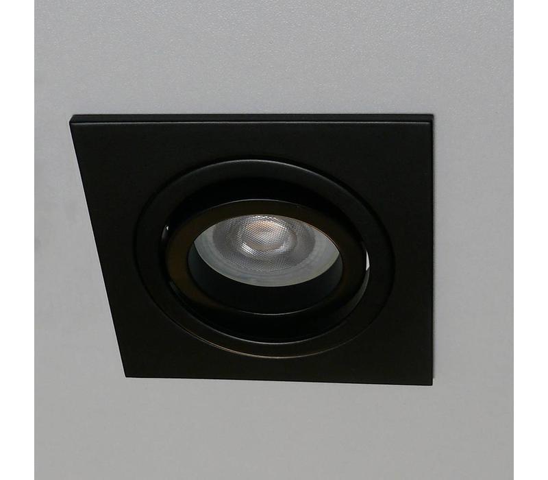 Inbouwspot Brescia vierkant zwart
