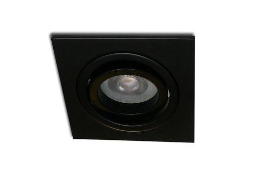 Kelpa Inbouwspot Brescia vierkant zwart