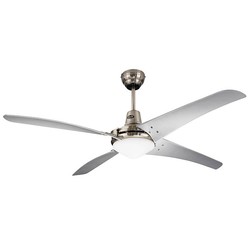 CasaFan Mirage Plafondventilator () 142 cm Kleur ventilatorbladen: Zilver Kleur behuizing: Chroom (geborsteld)