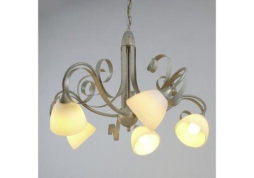 LAM Hanglamp ViaDese 5 lichts ivory