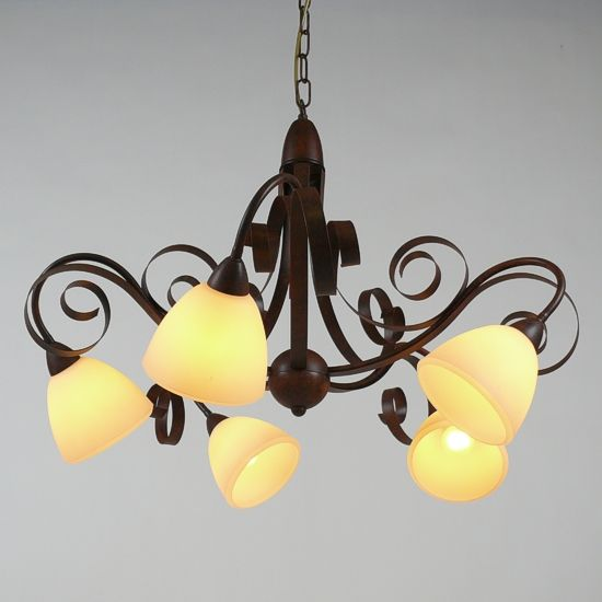 LAM Hanglamp ViaDese 5 lichts rusty
