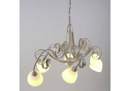 LAM Hanglamp ViaDese 6 lichts ivory