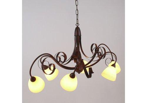 LAM Hanglamp ViaDese 6 lichts rusty