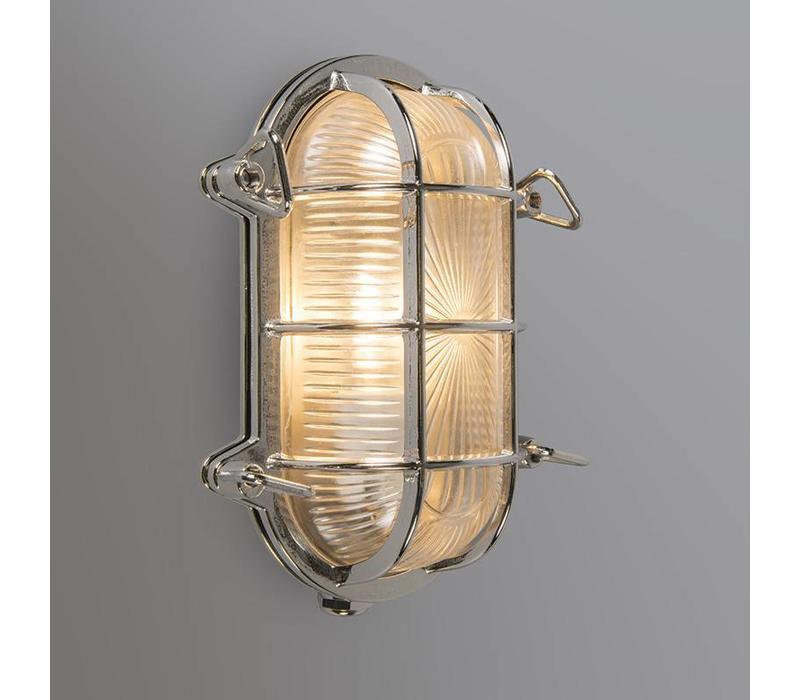 Buitenlamp Titanic ovaal chroom