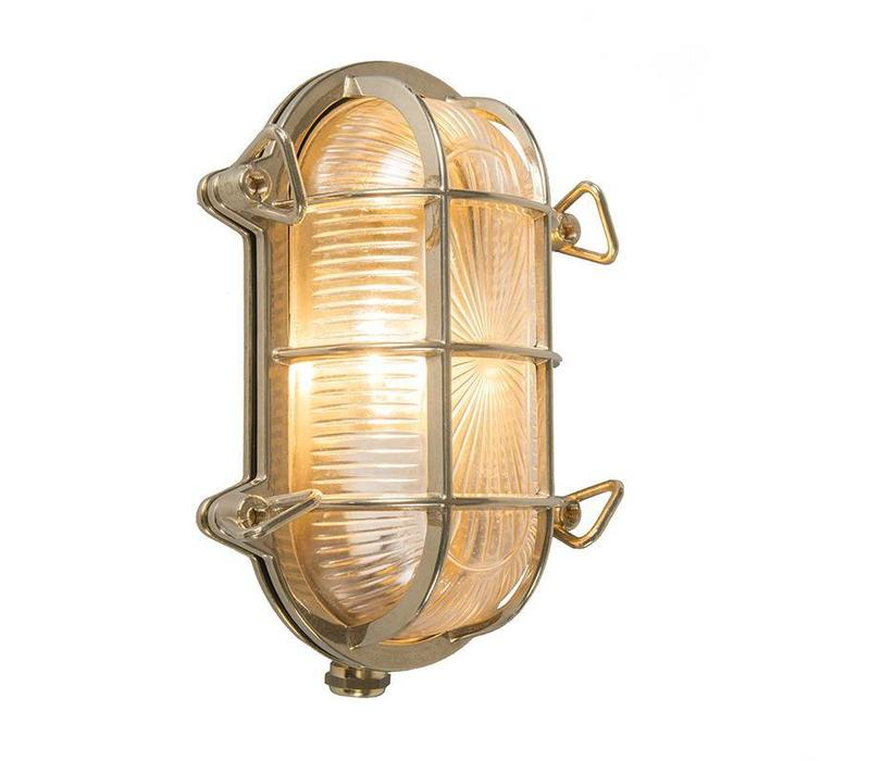 Buitenlamp Titanic ovaal messing