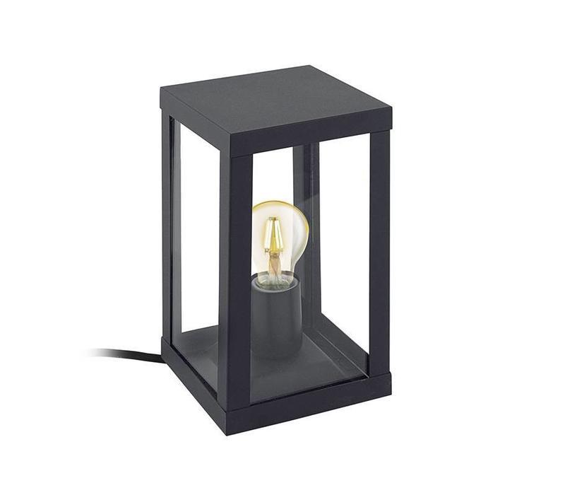Buitenlamp Alamonte 1 zwart staand klein