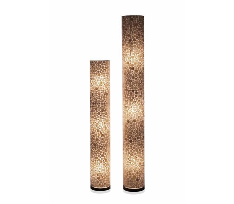 Vloerlamp schelp Coin Gold cilinder 150 cm