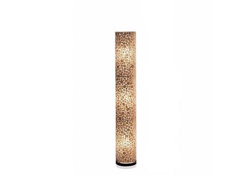 VillaFlor Vloerlamp schelp Coin Gold cilinder 150 cm