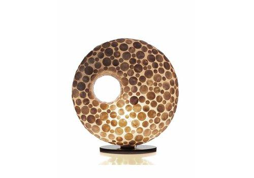 VillaFlor Tafellamp schelp Coin Gold donut