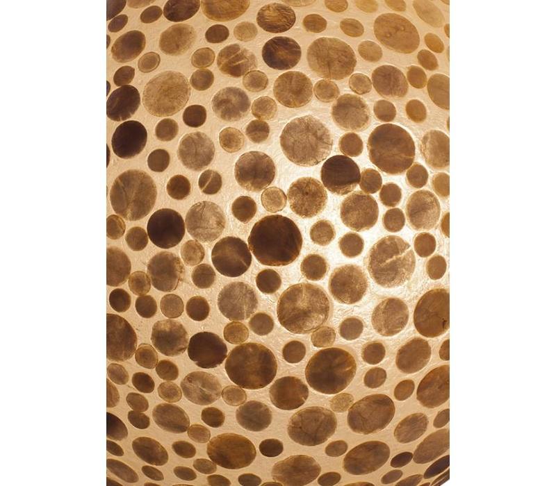 Hanglamp schelp Coin Gold bol 40 cm