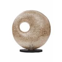 Tafellamp schelp Wangi Gold donut